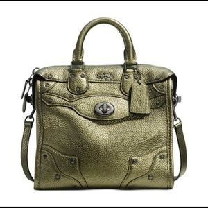 Coach Rhyder Metallic Green Tote/Satchel/Crossbody